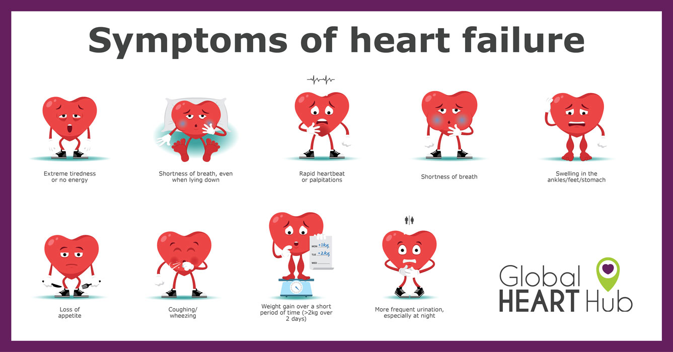 "By themselves, any one symptom of heart failure may not be cause for alarm. But if you have one or more symptoms, even if you haven't been diagnosed with any heart problems, visit your GP and ask the question, ""Could I have heart failure?"""