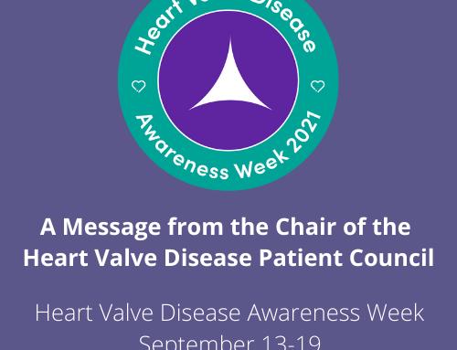 Three weeks to go until Heart Valve Disease Awareness Week