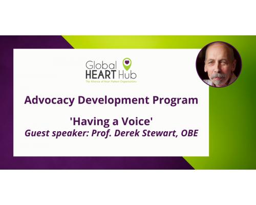 Advocacy Development Program – 'Having a Voice'